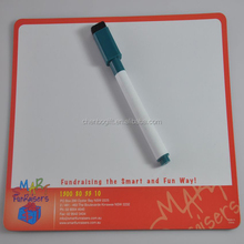 Custom made design smart kids magnetic writing board with marked pen