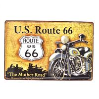 US Route 66 Mother Road Retro 3D Embossed Metal Tin Signs Bar Pub Home Decorative Plates Wall Sticker Advertising Iron Poster