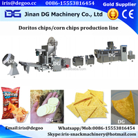 automatic crispy potato flour chip/corn chips cracker making machine