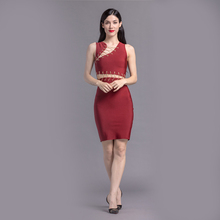 Wholesale fashion design red bandage dress for women