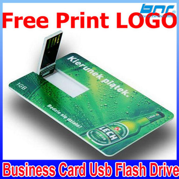 customized logo business card usb flash drive for best electronic free gifts