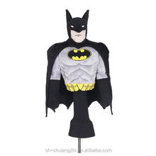 Cute Fuzzy Wholesale Factory Stuffed Toy Promational Plush Animal Shaped sports entertainment Custom Batman golf club head cover
