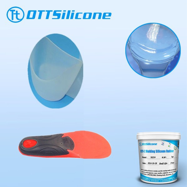 Prices liquid silicone for Silicone full-length insole with anti shock zones (pair)