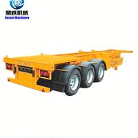 Flat Bed Container Timber Transport Semi