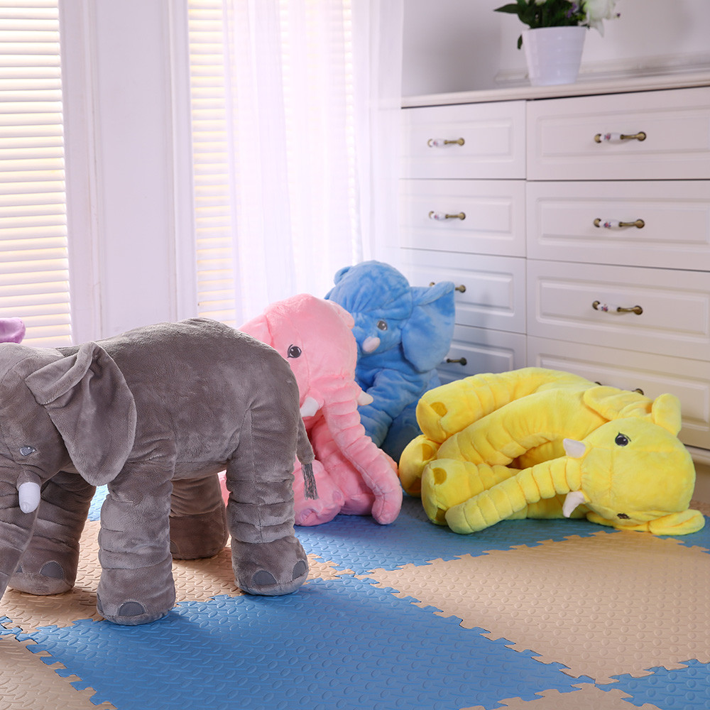 In stock cheap baby <strong>plush</strong> and stuffed elephant toys Skin Baby pillow