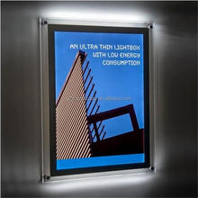 Crystal acrylic light box photo-frame with led light inside