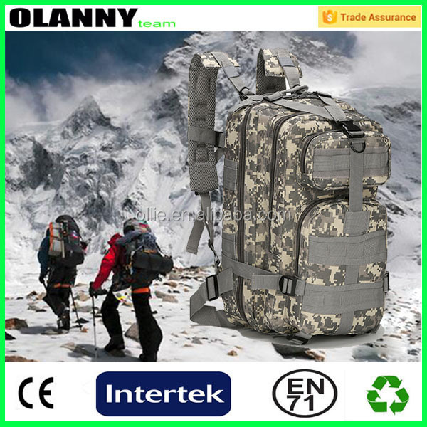 outdoor hiking adjustable canvas backpack
