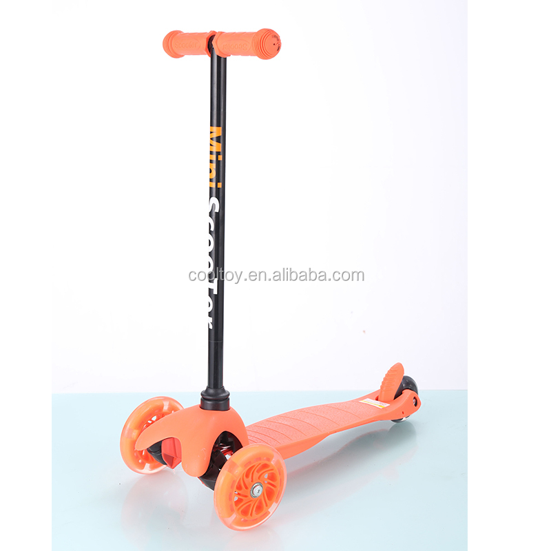 3 PU wheel kids push scooter height unadjustable
