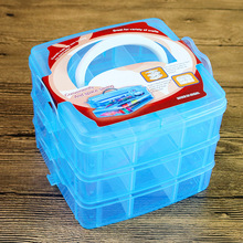 New Design Transparent Handle Toolbox Plastic Drawer Clear Cosmetic DIY Home Organizer Storage Box Jewelleries Tool Case Box