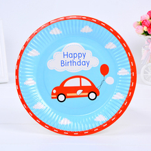 hot sale disposable cake plate kid birthday food plate nice party tools
