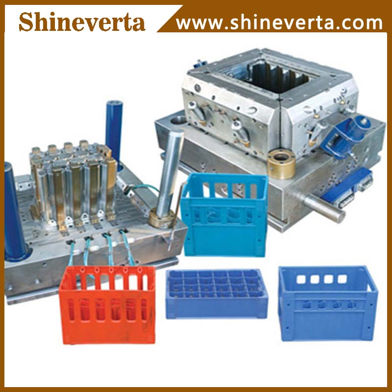 plastic beer case 24 bottle crate plastic injection mould