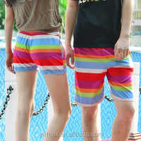 High quality custom polyester printed sexy men women beach shorts