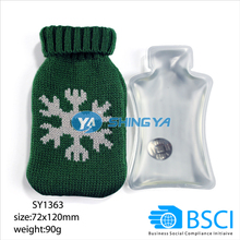 Promotional PVC bottle shape hand warmer with knitted cover