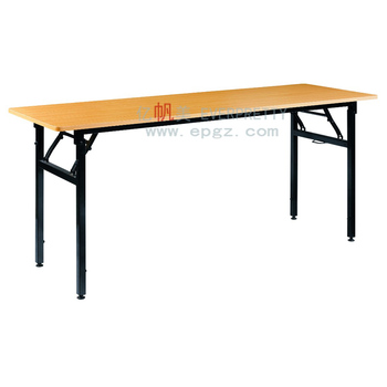 Cheap Folding School Camping Writing Table with Metal Leg