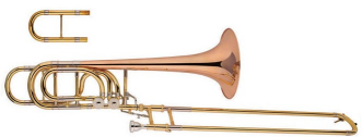 XTB012HG Gold Brass Bell Tuning Slide bass Trombone