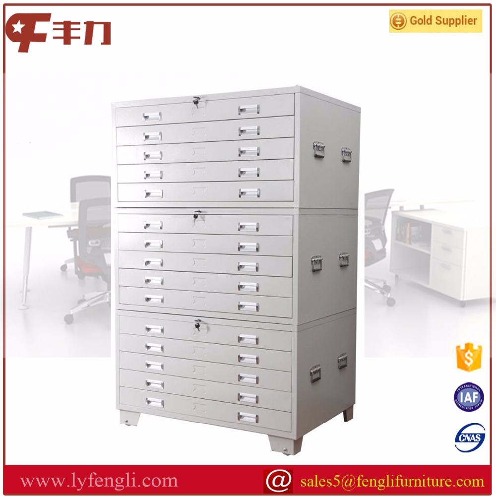 Durable steel multi chest of drawer drawing map storage cabinets