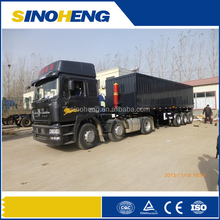 Flatbed tipping trailer used for 2x20feet containers