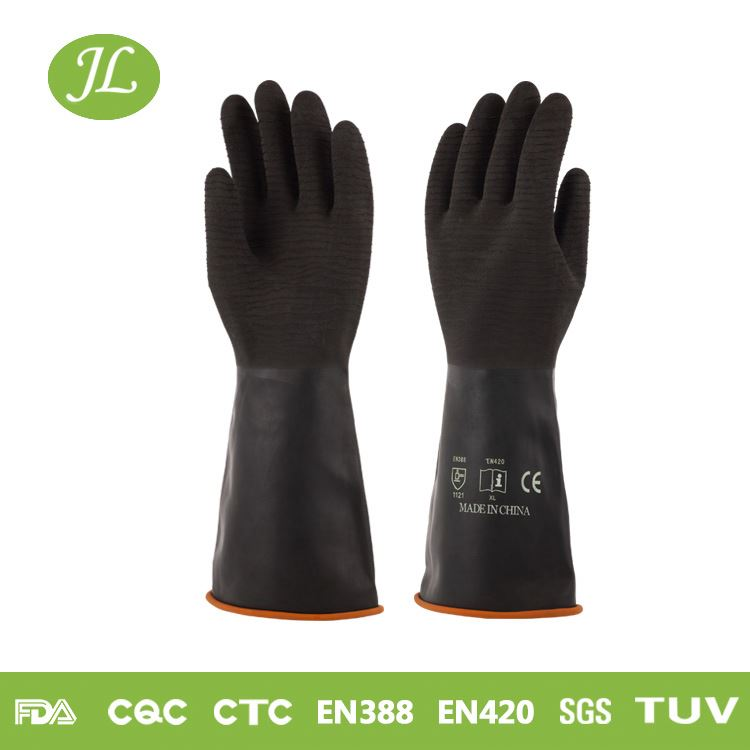 Super fit black 350mm wholesale industrial gloves