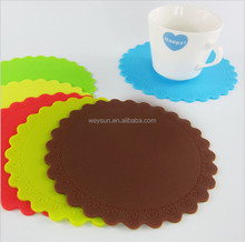 Silicone Coaster Rose Circle Heat Resistant Cup Mat Waterproof Cup Mat