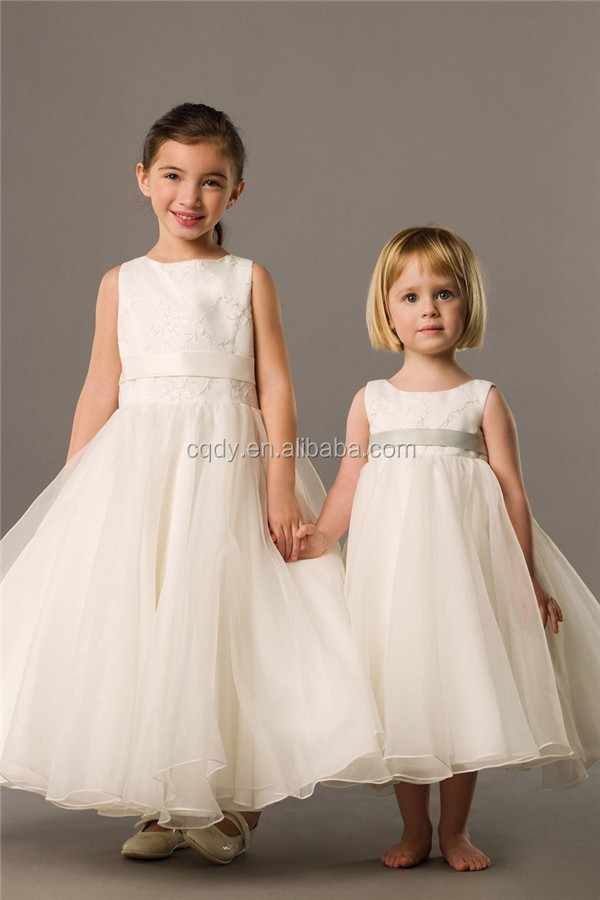 2015 white high waistband lace flower girl long dress spring summer girls boutique clothes exclusive brand children