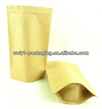 stand up foil lined kraft paper coffee bags with zip top