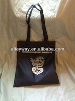 Long handle PP non woven silk printing shopping bag