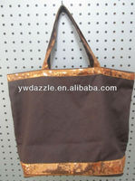 2015 fashion tote bag blank with shiny sequin strap