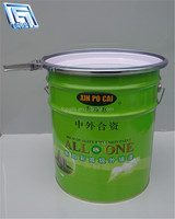 light green Acrylic Paint steel container