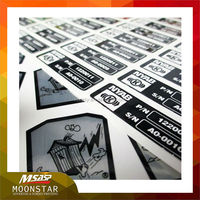 weatherproof sequential number printing adhesive labels stickers for machine
