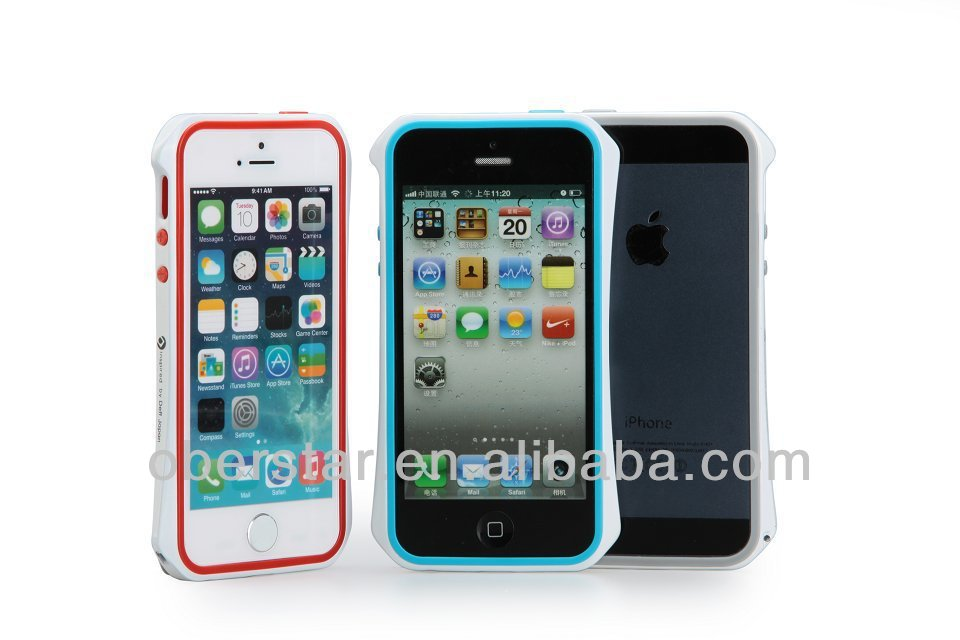 Dual Color Metal Frame For iPhone 5 5s Small Pretty Waist Aluminum Bumper Case