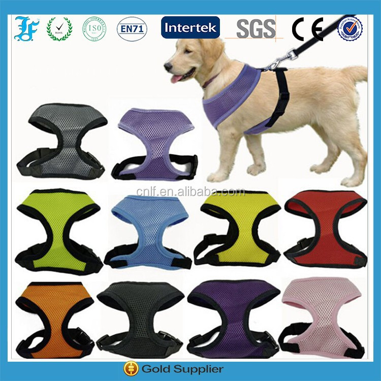 Nylon Soft Mesh Padded Dog Pet Puppy Harness&Leash Set