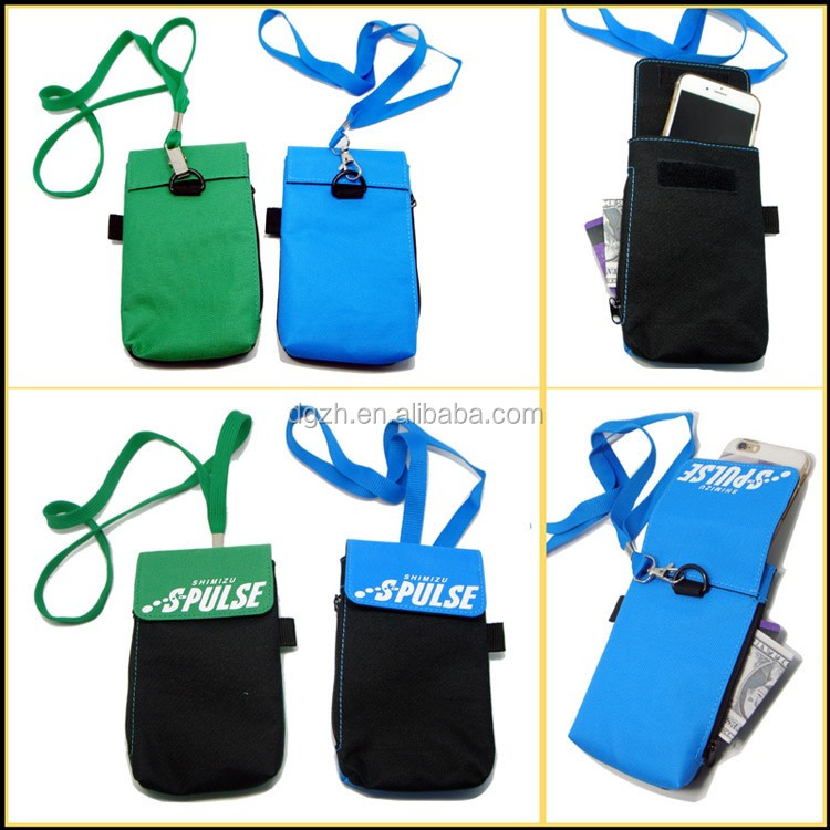 cell phone holder bag neck lanyards