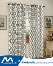 High-grade hot sales flocked faux silk home window curtain