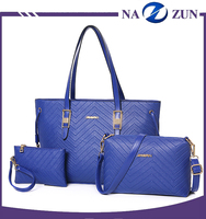 Fashion Trend V Word Grain Ladies Shoulder Handbags Purse 3 Pieces In 1 Set Wome Bags