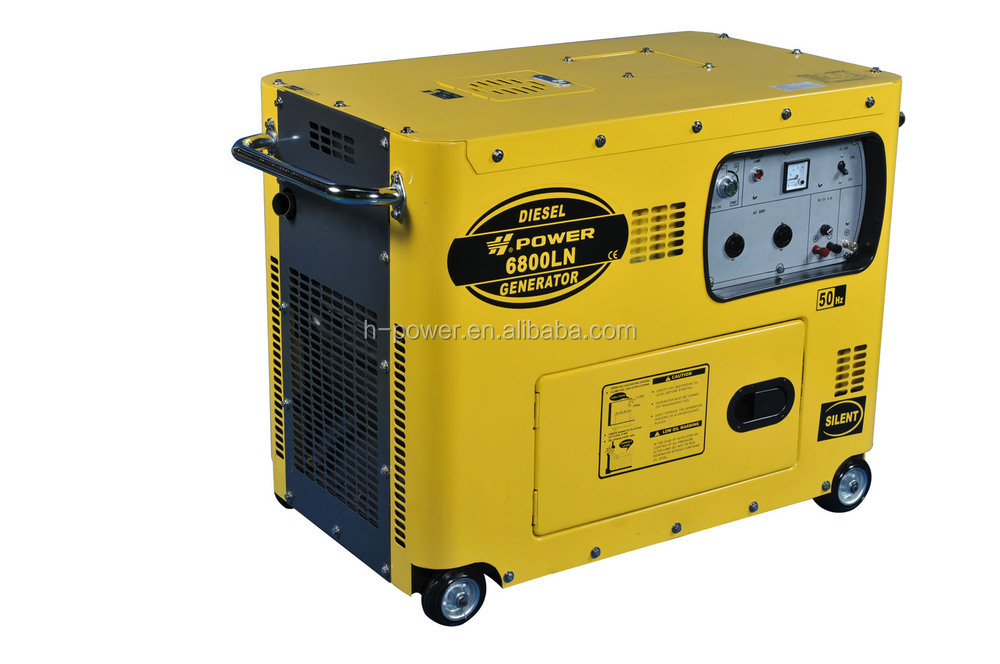 Small silent portable diesel generator 3 phase generator air cooled generator