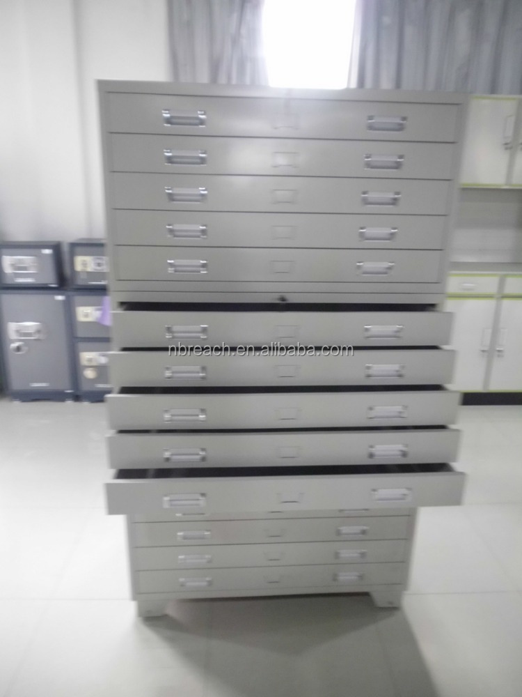 A0 Size High Quality Metal Durable Flat File Cabinet/Map And Drawing Storage Cabinet