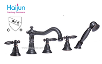 UPC Three Handles antique bath and shower faucet