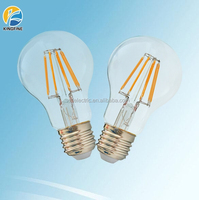 New products led lights A60 LED filament bulb 8W 1000lm A19 LED filament bulb dimmable, LED filament bulb E27