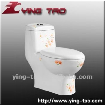 Construction project printing flower design decoration wc for Decoration wc