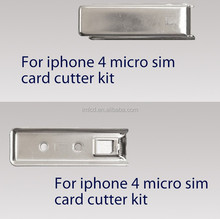 High quality micro sim card cutter kit for iphone 4