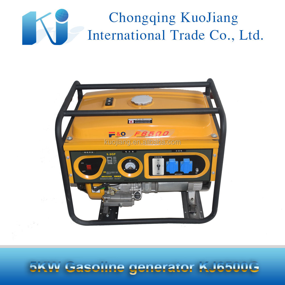 Hot sale honda copy portable gasoline generator 5KW and generator spare parts
