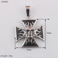 Square Shape Cheap Stainless Steel Cross Pendant