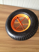 16 Inch Barrow Wheel For Lawn Mower With Axle 4.00-8
