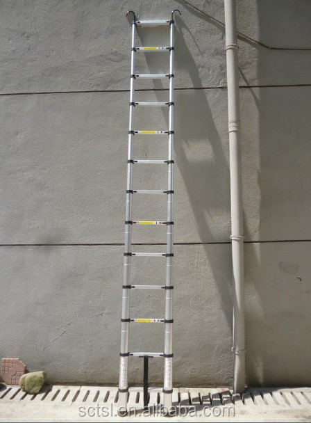 Single Side Straight Aluminium Telescopic Ladder with hook