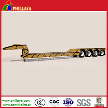 high tensile steel semi trailer type 2/3/4 axles hydraulic gooseneck detachable 80-150 tons low bed semi trailer