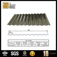 Corrugated galvanized zinc roof tile / prepainted galvanized steel roofing sheets