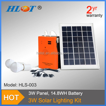 Helist 3W mini solar electricity generating system for home