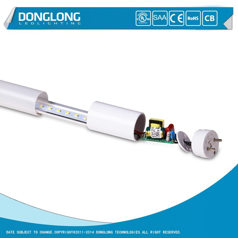 T8 Led Tube 4ft 18W 90lm/w Glass Tube With CE Certification For Home School Hospital Lighting