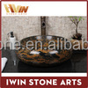 Factory price natural marble round sinks small size wash basin