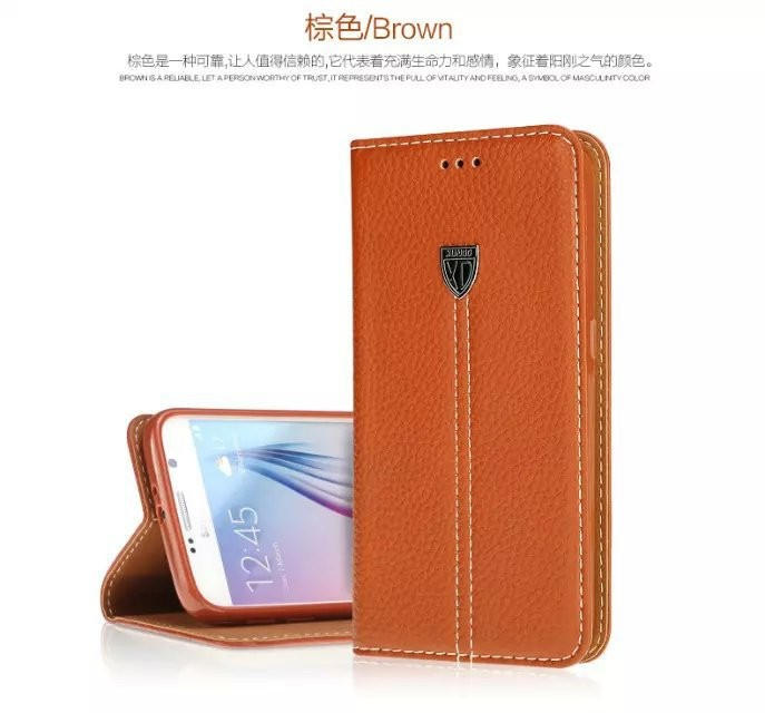 High Quality Wallet Leather Stand Cover For XUNDD Samsung Galaxy S6 Case